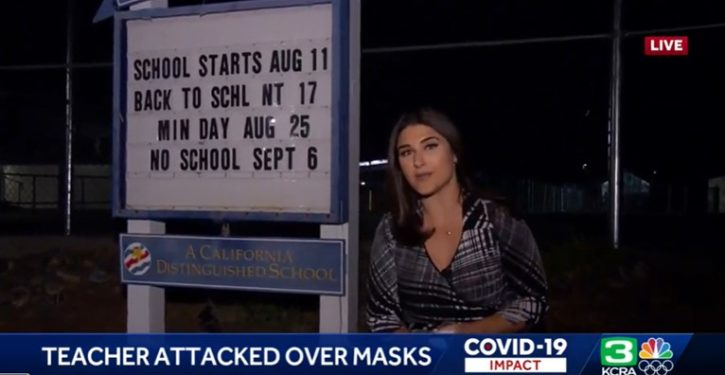Parent leaves teacher bloodied after fight over mask mandates on first day of school