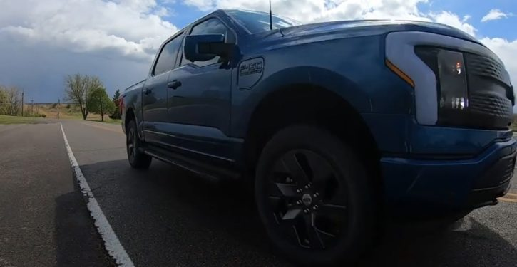 Electric F-150 busts track like greased Lightning