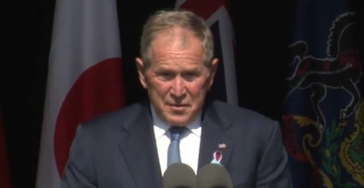 Bush makes it about 'domestic extremism' in 9/11 commemoration speech