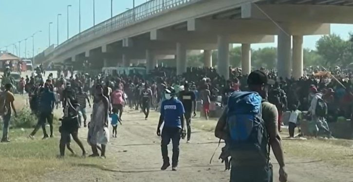 Thousands of migrants, mostly from Haiti, overwhelm border officials in Texas