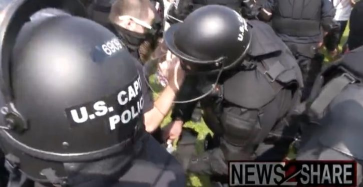 Oops: Capitol Police at ill-attended 'J6 rally' arrest undercover agent