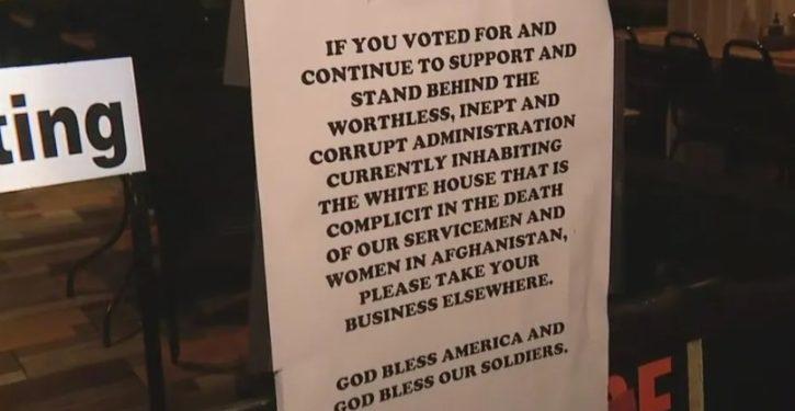 Restaurant owner bans Biden supporters