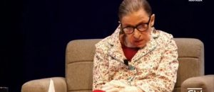 After recent fall, Ginsburg working from home