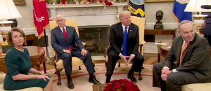 Oval Office confrontation: Pelosi - 'Tinkle contest with a skunk'; Trump – 'Border security'